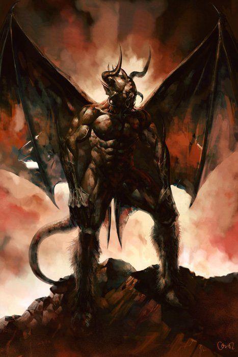 imagenes del diablo y una de un perro