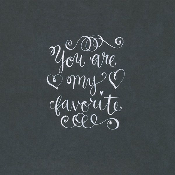 you-are-my-favorite thing! ;) I had this inscribed in his original wedding ring!