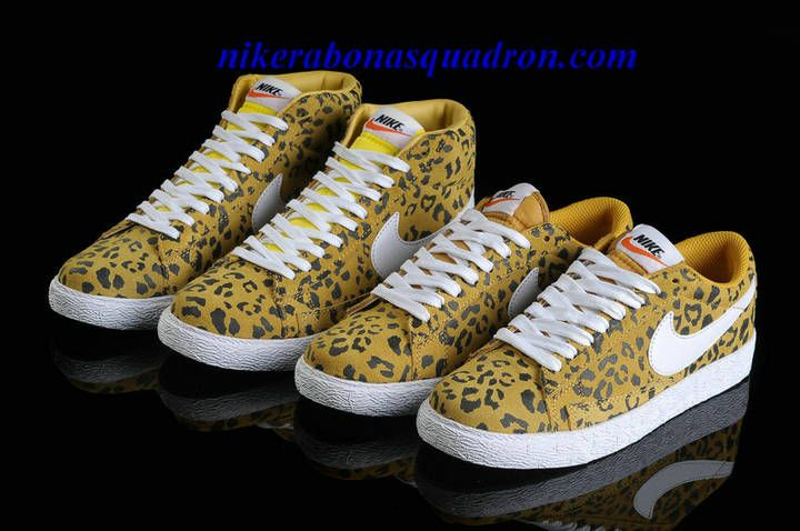 Nike Blazer High Shoes Cheap For Sale Premium Print Leopard Pack