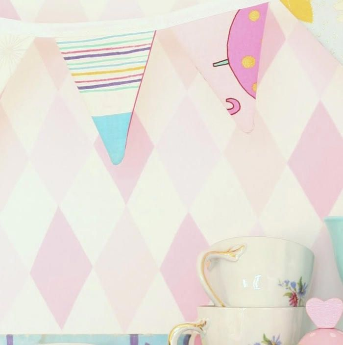 papel pintado con rombos grandes los papeles pintados infantiles de color rosau