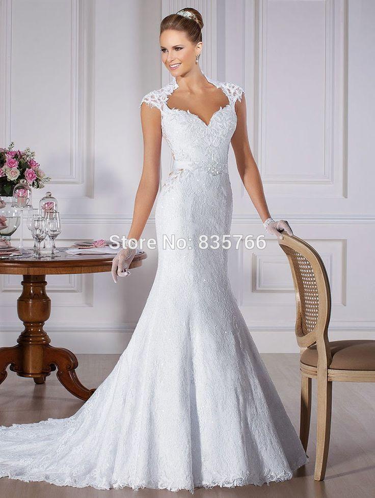 Barato Romântico manga gola alta vestido de noivas vestido de casamento vestido de noiva sereia, Compro Qualidade Vestidos de noiva diretamente de fornecedores da China: Bem-vindo para Nossa loja