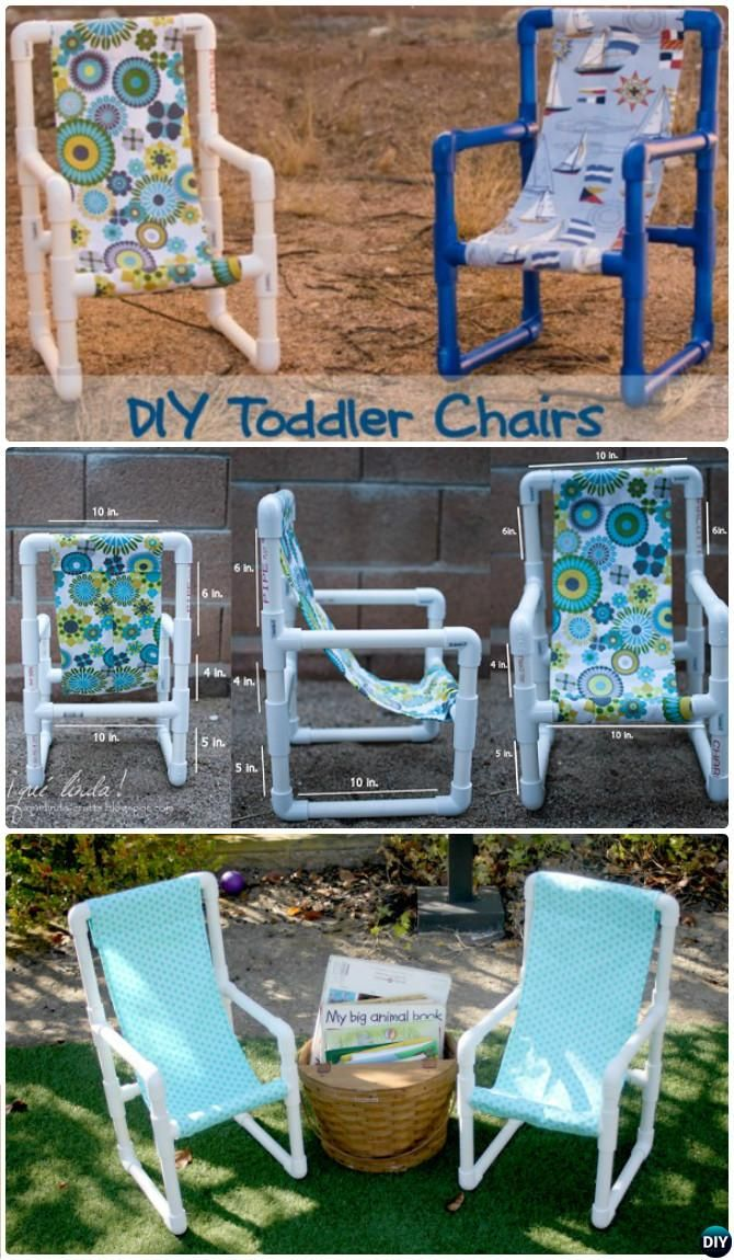 DIY PVC Pipe Kids Chair -20 PVC Pipe DIY Projects For Kids