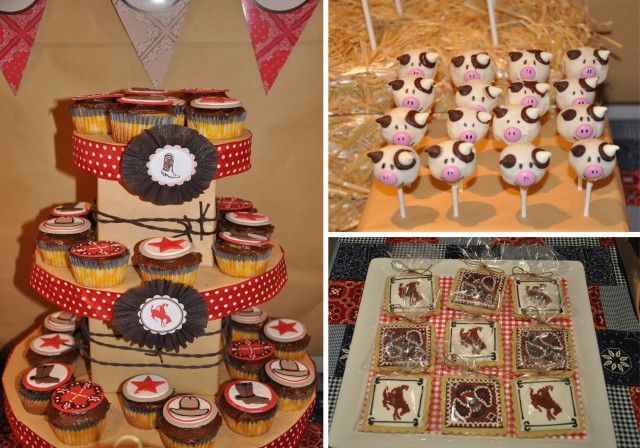 Westen party food: Cowboys Cupcakes, Piggy Cake, Pigs Cakes, Theme Parties, Cows Cakes, Westerns Parties, Cowboys Parties, Parties Desserts, Parties Food
