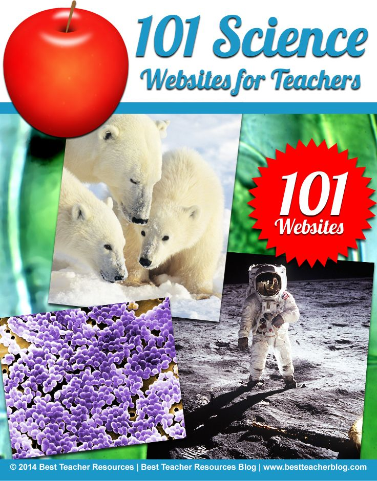101 Science websites for teachers including SciShow, ChemiCool, Cell Craft, and more! http://bestteacherblog.com/101-science-websites-for-teachers/