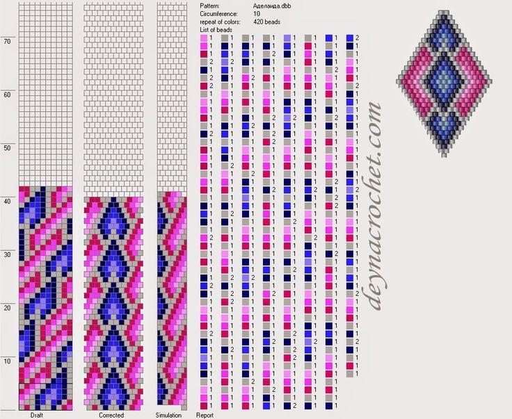 """DEYNACROCHET: Бисерный комплект """"Аделаида"""". Фото и схема"""