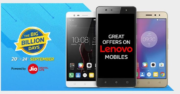 Lenovo Smartphones Great Offers Upgrade now! The BigBillionDays-20 to 24 Sept 2017  Flipkart's Smartphones Biggest Sale of Lenovo  The Big Billion Sale by Flipkart 20th to 24th Sept 2017  Flipkart's Navaratra Sale  Flipkart's Dussehra Sale  Flipkart's Diwali Sale  Smartphones || Electronics || Home || Decore || Kitchen || Fashion || Similarly    Quality Products. Delivered Fast.   6 Quality Checks   Fast & Free Delivery    on orders above Rs.500