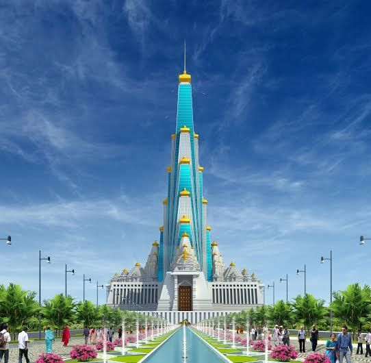 Vrindavan Chandrodaya Temple : World's tallest temple is under construction in Vrindavan, India ( An artist's impression)