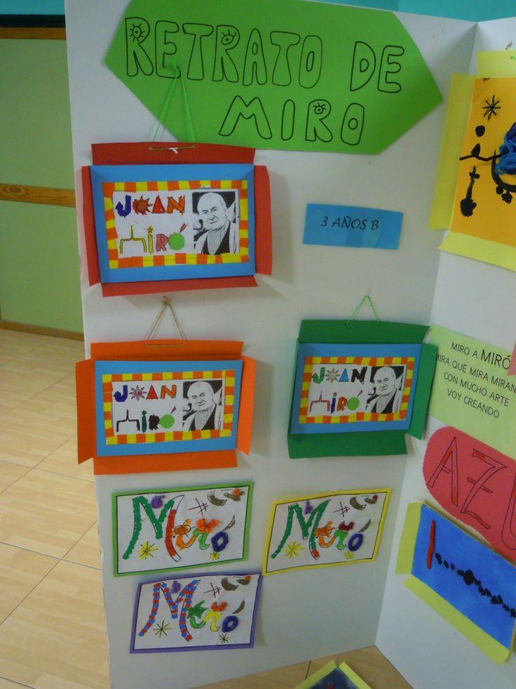 EXPOSICION DE LOS TRABAJOS SOBRE MIRO REALIZADOS POR LOS ALUMNOS DE EDUCACION INFANTIL