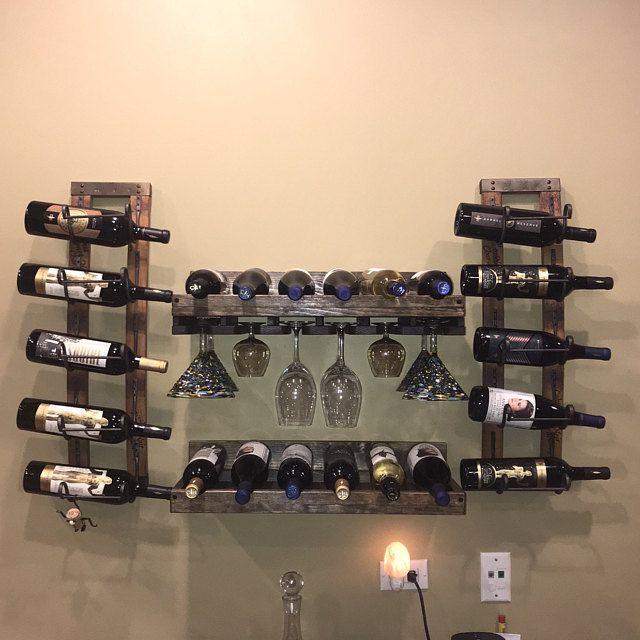 Unique Wall Wine Rack Vertical Wood Wine Rack Hanging Etsy In 2020 Modern Wall Wine Rack Wine Rack Wall Hanging Wine Rack