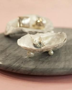 Oyster Shell Dish - Martha Stewart Crafts -would be amazing way to sell with earrings at a sale by janell