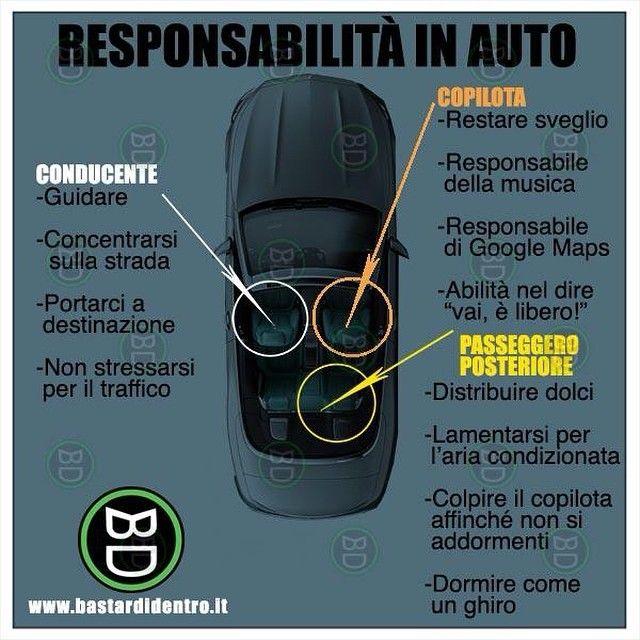 Responsabilità in #auto #bastardidentro #passeggero…
