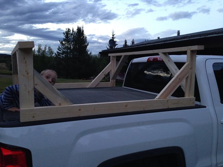 DIY Truck box kayak carrier   Birch Tree Farms