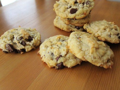 Coconut Chocolate Chip Cookies | Coconut Cookies, Chocolate Chips and ...