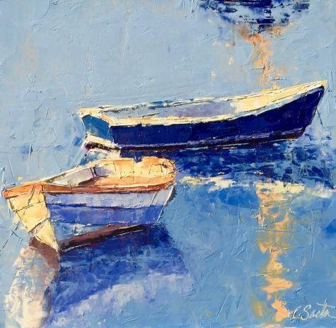 12,800, painting by artist Leslie Saeta