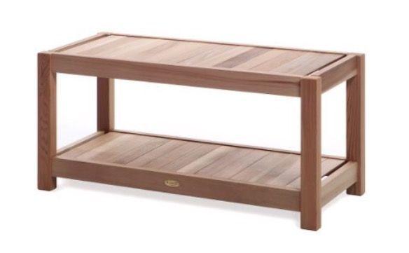 """Western red cedar 39"""" bench by All Things Cedar"""