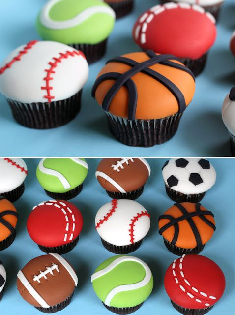 The most perfect cupcakes to serve when your child is having a sports themed birthday party. Children between the ages of 5-12 will certainly enjoy this fun-filled theme party!