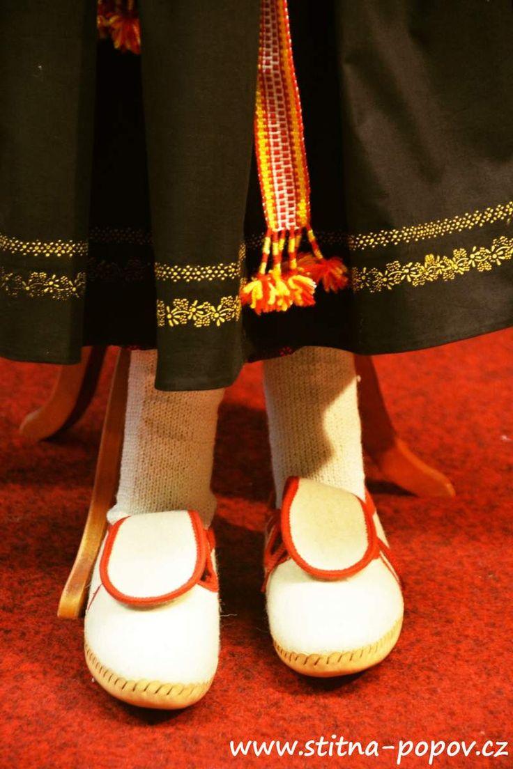 Štítná - rekonstrukce - papuče ženské (střívjata?)