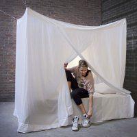 Moustiquaire coton pour les lits une personne.