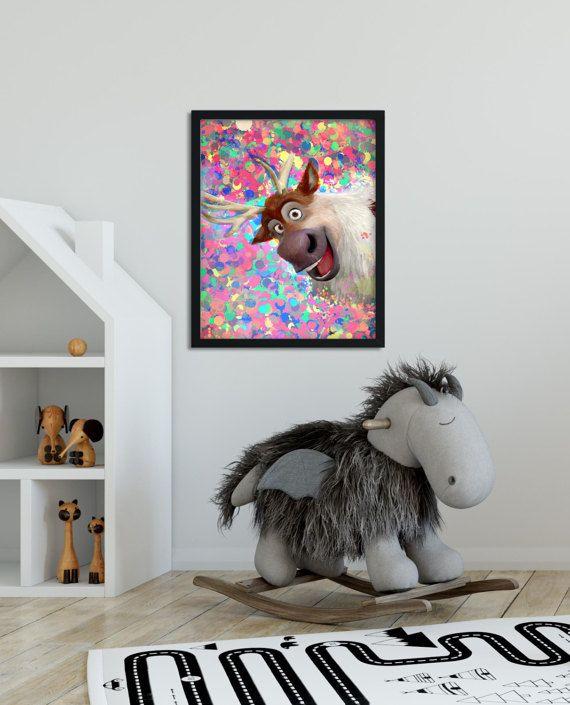 Frozen Sven Reindeer Frozen printable Frozen by MyGalleryWall