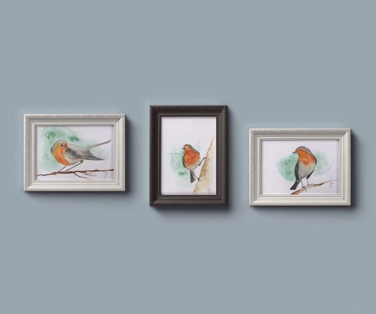 The robins - Triple set by (null) on Etsy (null)