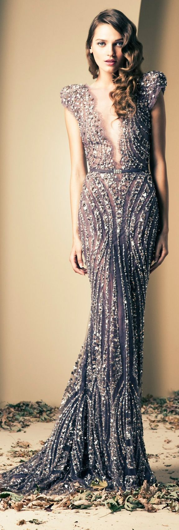 Glam in Long and Sparkly Dress