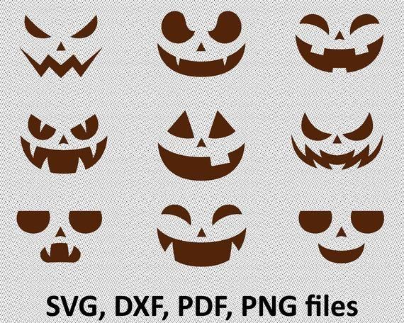 Pumpkin Face Svg Bundle Jack O Lantern Faces Png Bundle Cute Etsy Jack O Lantern Faces Pumpkin Faces Jack O Lantern