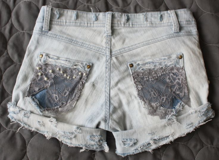 Denim shorts by me + pearl and lace