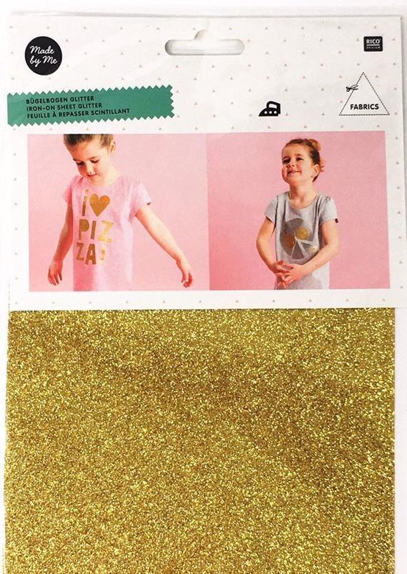 Gold Glitter Vinyl Transfer Sheet For Fabric Rico Design Gold Glitter Iron On Transfer Sheet Diy Gold Iron On Transfer In 2020 Glitter Vinyl Transfer Vinyl Transfer Sheets Glitter Vinyl