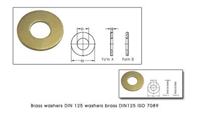 Brass Washers DIn 125 Washers ISO 7089 Brass DIN 125 Washers #BrassWashers #DIn125Washers ISO 7089 Brass DIN 125 Washers We are manufacturers of DIN 125 BRASS WASHERS DIN 125 COPPER WASHERS Type A unchamfered and Type B with Chamfer (machined washers) and ISO 7089 Washers Flat washers. Our state of the art power presses at Jamnagar india  can stamp and press up to 4 tons per day.