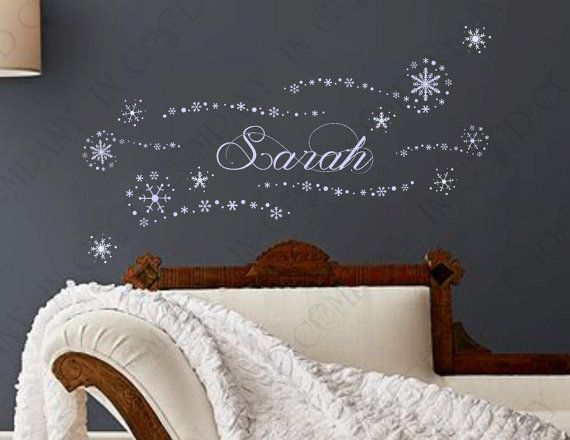 """Personalized Frozen Wall Decals With YOUR CHILD'S NAME! - Birthday Banner or Bedroom Decor - 7 Decals - 30"""" Assembled - 6 bonus decals on Etsy, $38.29 CAD"""