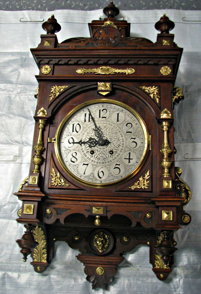 traumhaftsch ne alte lenzkirch gutsherren prunk wanduhr 1890 original 19 jahrhundert. Black Bedroom Furniture Sets. Home Design Ideas
