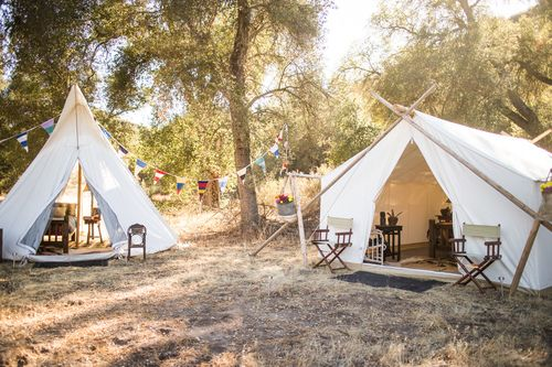 Camping tent rental company. I love all thee tents that Under Canvas Events has, camping looks so fun with their tents. Photo Credit Ian Norman