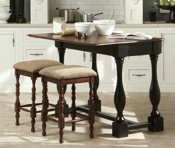 Kitchen Island And Two Stools   Grand Home Furnishings | K4003