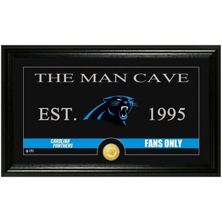 """Carolina Panthers Highland Mint 12"""" x 20"""" Man Cave Panoramic Photomint"""