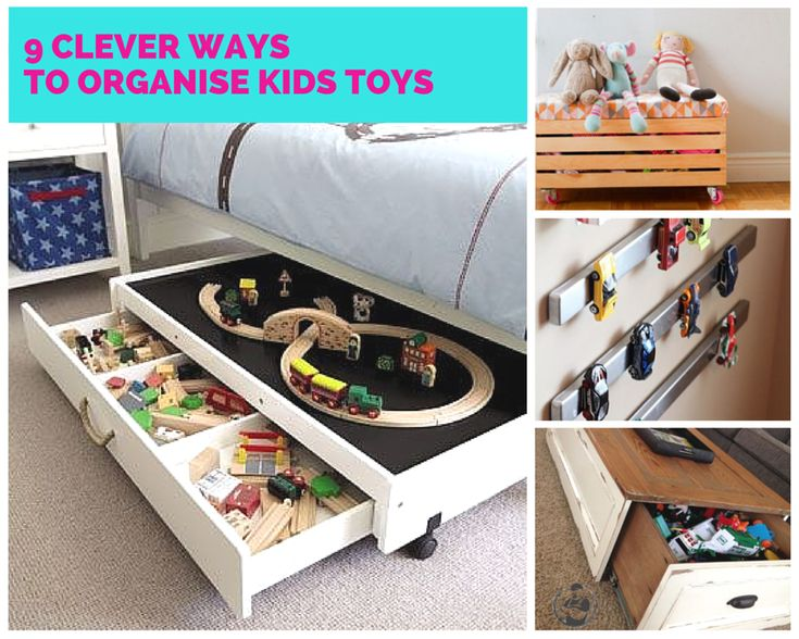 9 Clever Ways to Organise Kids Toys #kids #toys #organise #home