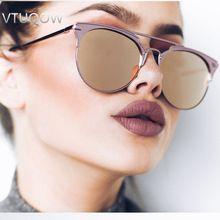 De lujo de la Alta Calidad del Aviador gafas de Sol Mujeres Diseñador de la Marca de La Vendimia Del Ojo de Gato Mujeres Gafas de Sol Para Mujeres de Las Señoras gafas de Sol de Espejo(China (Mainland))