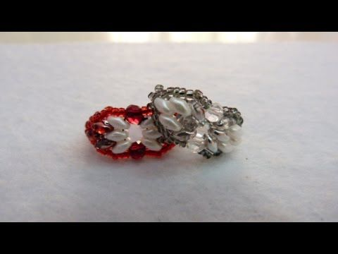 Anillo con superduos, perla y rocalla - YouTube
