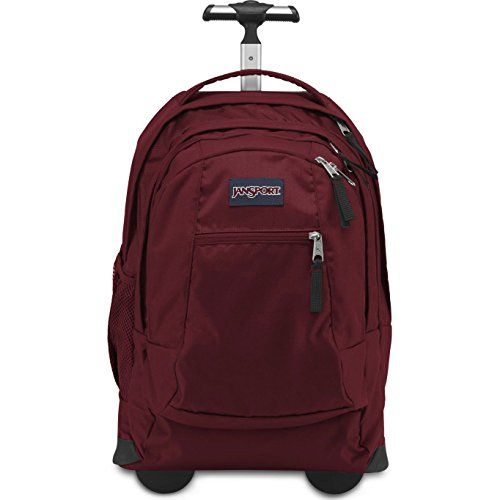 JanSport Driver 8 Core Series Wheeled Backpack (Viking Red)  - Click image twice for more info - See a larger selection of school backpacks at http://kidsbackpackstore.com/product-category/school-backpacks/ - kids, kids backpack, school backpack, everyday backpack, school bag, gift ideas, teens backpacks.