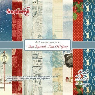 Scrapbookdepot - ScrapBerrys That Special Time of Year Papier pakket 24 vel