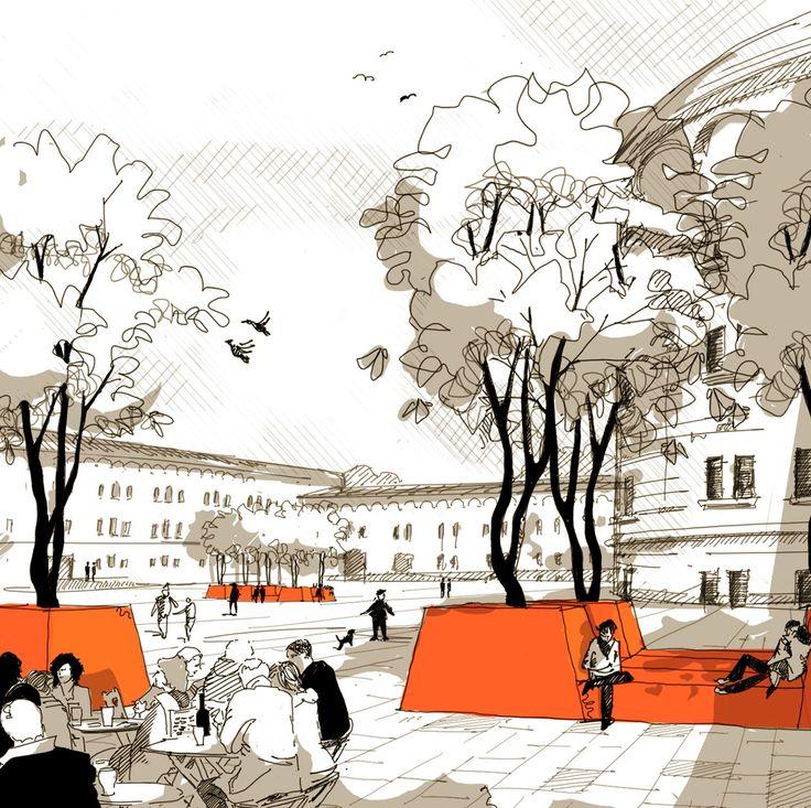 Die besten 25+ Rendering Architektur Ideen auf Pinterest