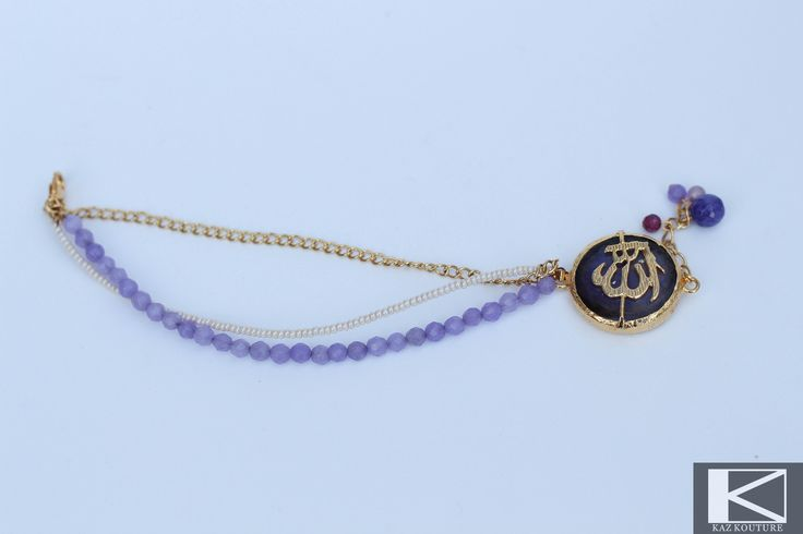 KAZ KOUTURE: Gemstone Beaded Allah Bracelet #kazkouture #fashion #bracelet #goldplated #jewelry #accessories #armcandy #princess #fashionista #turkish #arabiccalligraphy #muslimfashion #abaya #hijabi #hijab #arabfashion #scarf #muslim #semipreciousstone