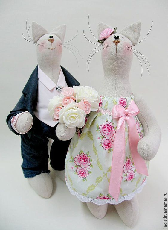 Wedding Tilda Cat Dolls | Семья Котов – купить в интернет-магазине на Ярмарке Мастеров с доставкой