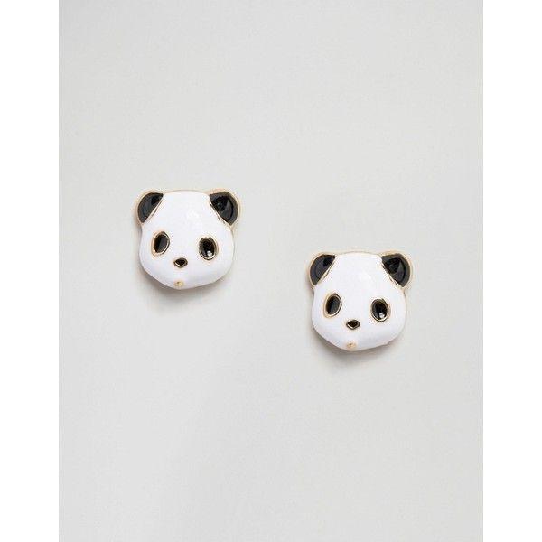 ASOS Panda Stud Earrings (110 ZAR) ❤ liked on Polyvore featuring jewelry, earrings, multi, studded jewelry, asos jewelry, earring jewelry, asos and panda bear jewelry