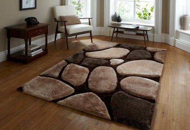 magnifique tapis salon beige marron | Décoration salon ...