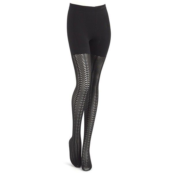 Calvin Klein Women's Semi Opaque Shaper Tights (79 BRL) ❤ liked on Polyvore featuring intimates, hosiery, tights, black, patterned opaque tights, calvin klein hosiery, opaque pantyhose, opaque stockings and calvin klein stockings