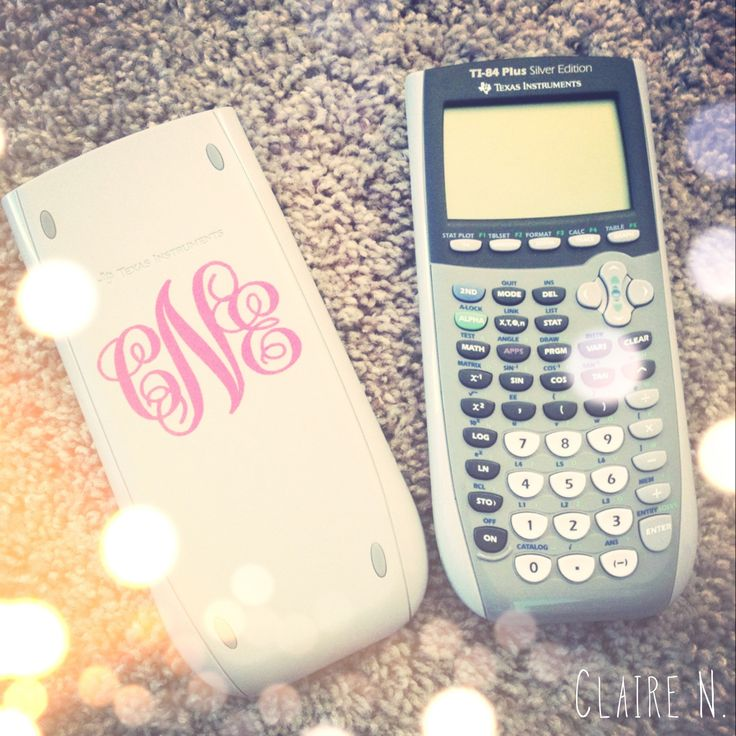OMG!!!!!!! I just got my graphing calc. for math! great way to know which one is yours and keeps it from being stolen!