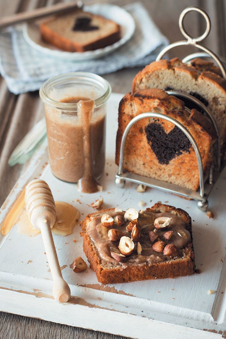 The best way to show someone that you're bananas about them is to serve up banana bread toast with homemade hazelnut butter and honey. This gorgeous treat just oozes with homemade goodness.