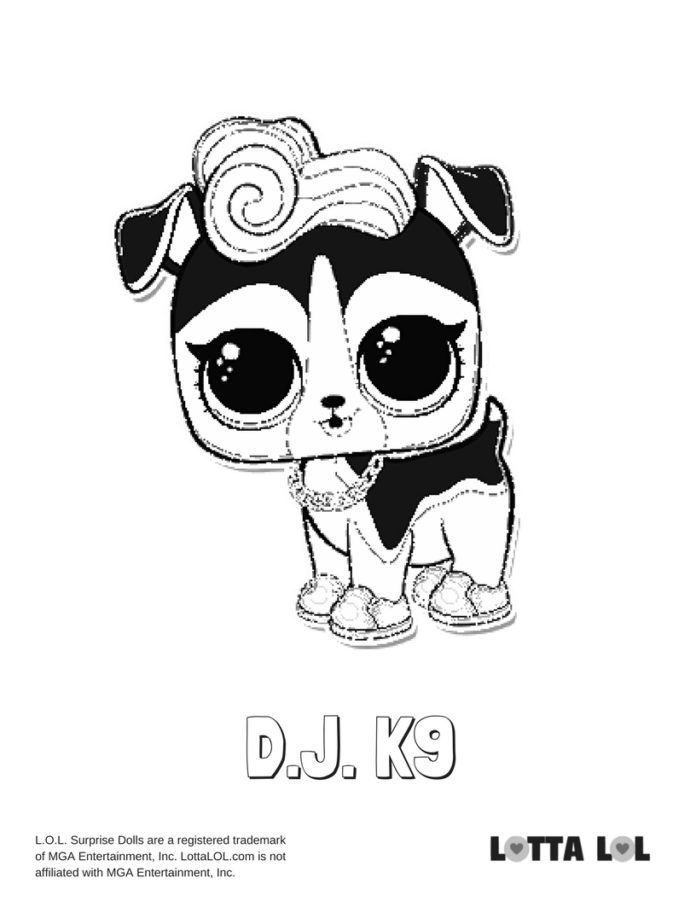 Dj K9 Coloring Page Lotta Lol Lol Dolls Coloring Pages Mermaid Coloring Pages