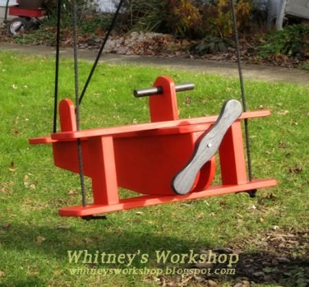 Hours of fun for your little one. Airplane Swing Free step by step DIY plans from Ana-White.com #Plan