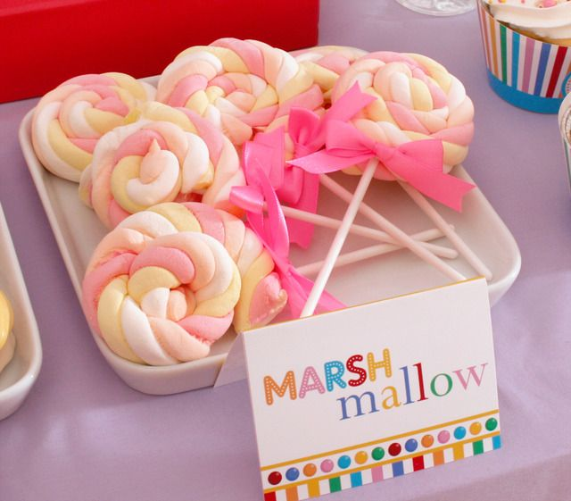 rolled up marshmallows - great idea!